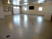 garage chip floor with coving